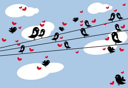 affair: birds on wire
