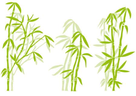 Bamboo tree silhouettes, vector Stock Vector - 5271457