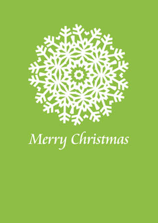 christmas card design with snowflake, vector Vector