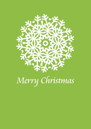 christmas card design with snowflake, vector Vector