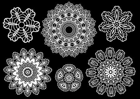 Delicate lace doilies pattern Vector Illustration