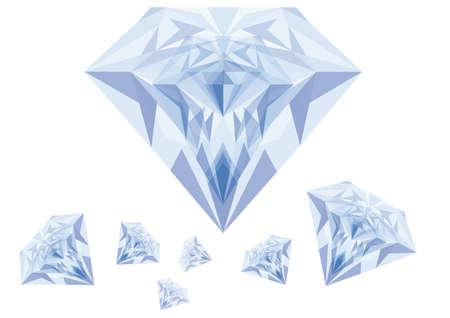 diamonds on white background Vector