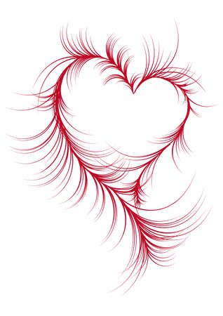 abstract heart design with swirls,  Vector