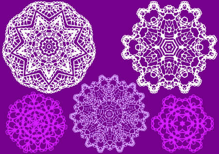 delicate lace pattern Vector