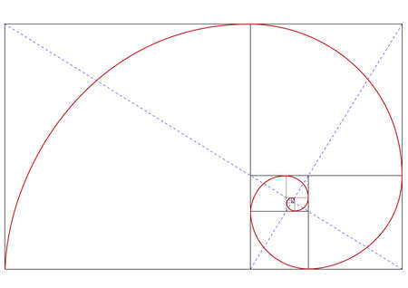 proportion: fibonacci golden ratio Illustration