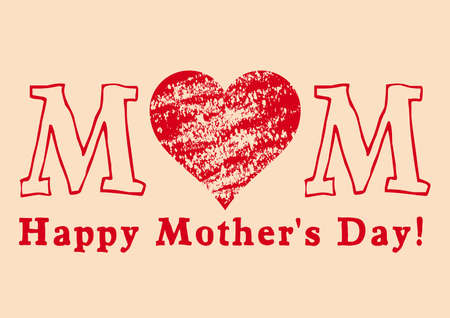 grungy mother's day greeting card, vector