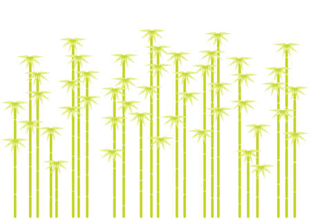 green bamboo tree silhouettes, background Stock Vector - 6911920