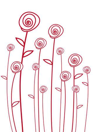 fiori rossi, sfondo