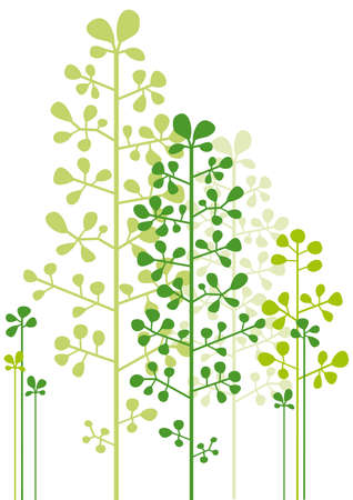 abstract green trees  Vector