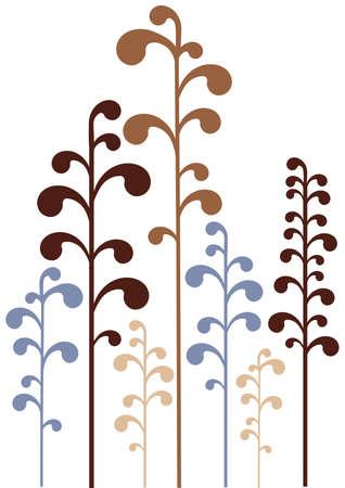 stencil flower: modern, simple floral design  Illustration