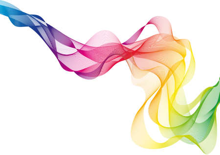 smooth curve design: humo colorido abstracto  Vectores