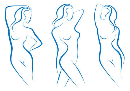 nude woman: beautiful nude woman silhouettes