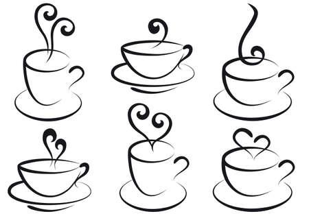 tasses de café et de thé Vecteurs