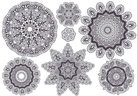 Delicate lace pattern, background  Vector