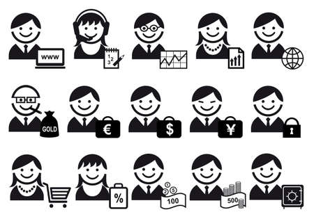 sales manager: business people  icon set