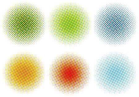 set of colorful halftone dots, vector pattern Vector