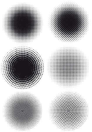 kreis: Set Halbton-Muster, vector