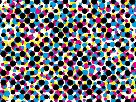 raster: cmyk, halftone dot pattern, vector background