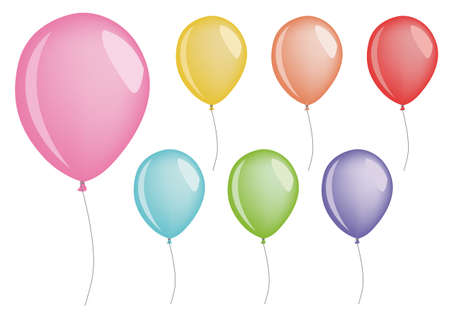 air baloon: set of balloons