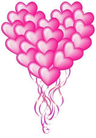 big balloon heart Vector