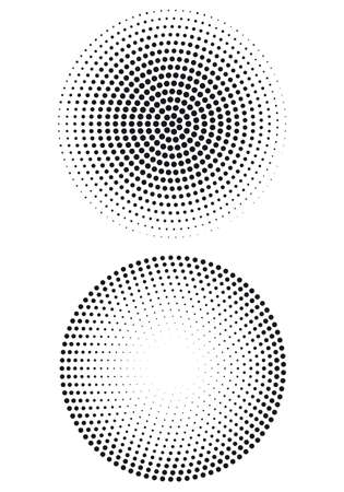 halftone: halftone dot pattern, vector background Illustration