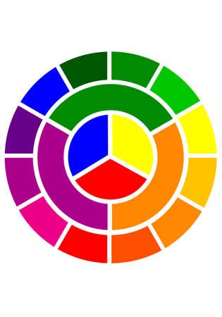 primary colours: color circle over white background, vector illustration Illustration