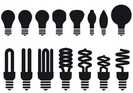 ampoule: ampoules basse consommation, ensemble de vecteurs