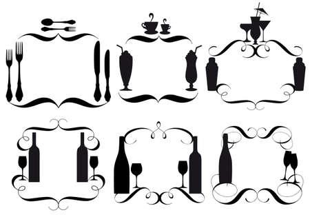 fork glasses: carte menu vuoto per ristoranti Vettoriali