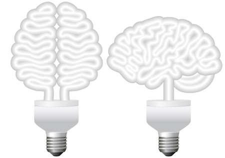 energy bulb brain, vector illustration Stock Vector - 10483737