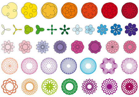 huge set of perfect flowers Vector