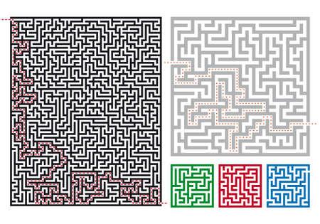 set of labyrinths Vector