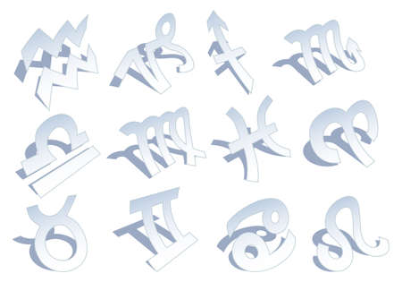 set of zodiac signs, vector illustration Vector
