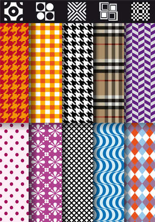 seamless fashion fabric patterns Vector