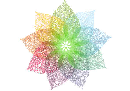 colorful spring leaves flower, vector background Vector
