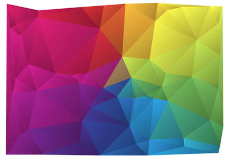 triangle: abstract wrinkled colorful vector background