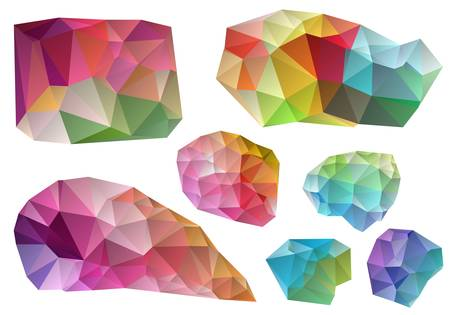 wrinkled paper: colorful wrinkled design elements, vector illustration Illustration