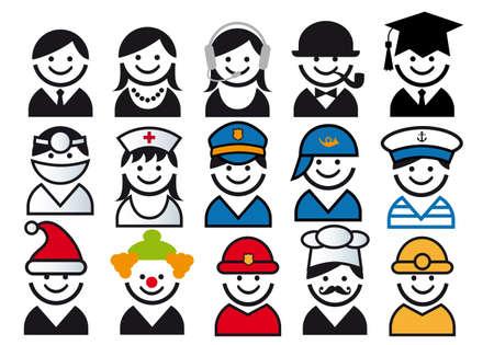 avatars: professione avatars Vettoriali