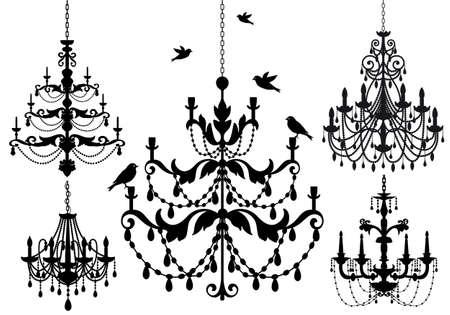 conjunto lámpara antigua
