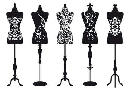 manikin: conjunto de formas elegantes, moda, traje