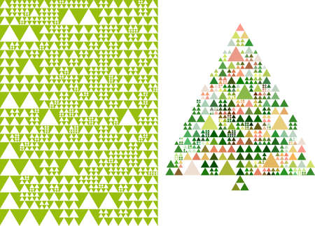 abstract triangle christmas tree and pattern Stock Vector - 15804650