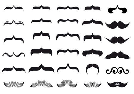 large set mustache designs Stock Vector - 15964989