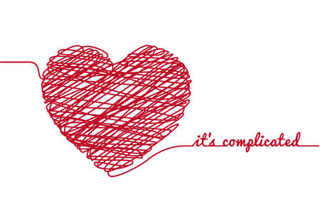 it is complicated with chaos heart Stock Vector - 17500622