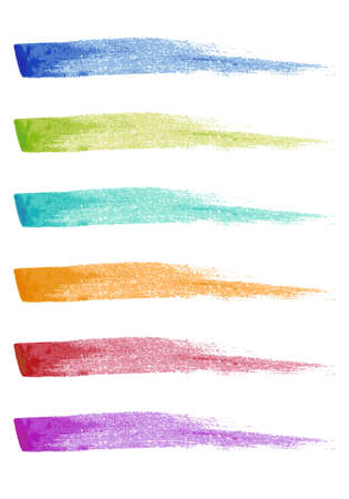set of paint brush strokes, vector design elements Illustration