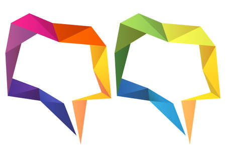 colorful geometric speech bubbles Vector