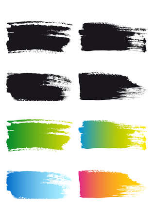 paint brush stroke frames, set of vector design elements Vector