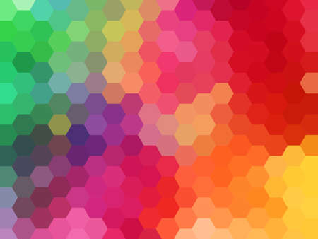 abstract colorful geometric vector background, hexagon pattern