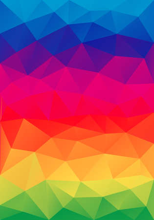 color spectrum: abstract colorful low poly background, vector design element