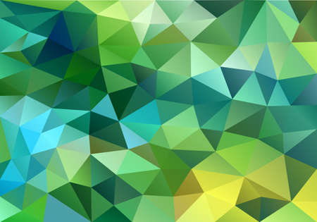 abstract blue and green low poly background, vector design element
