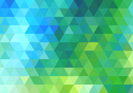 abstract green blue geometric vector background, triangle pattern