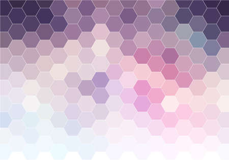 abstract pink purple geometric vector background, hexagon pattern Ilustrace